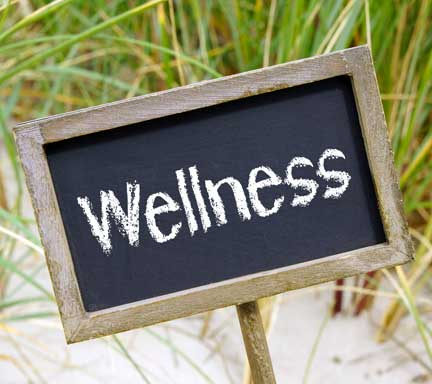 Photo of sign saying 'Wellness'