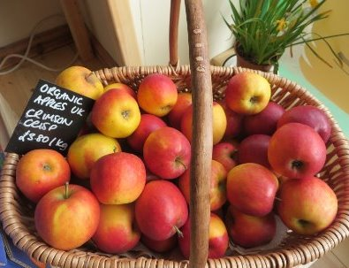 Organic UK-sourced apples are among the fresh fruit and vegetables available from Haworth Wholefoods