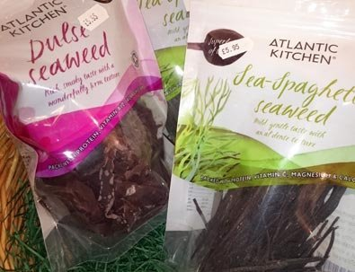 Atlantic Kitchen Dulse and Sea-Spaghetti dried seaweeds are available in-store from Haworth Wholefoods