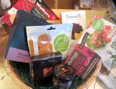 Fill one of our hampers or baskets with your own selection of goodies from the shop